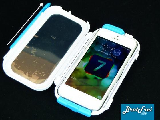 Einsetzen des iPhone5 oder 5s