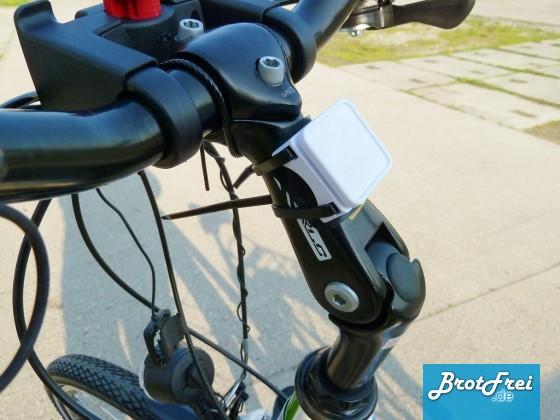 Montage der Runtasitc Fahrradhalterung