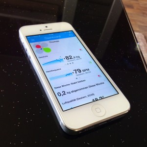 Withings APP auf dem iPhone5