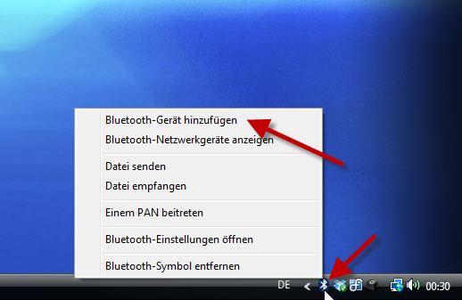 Bluetooth Gerät hinzufügen