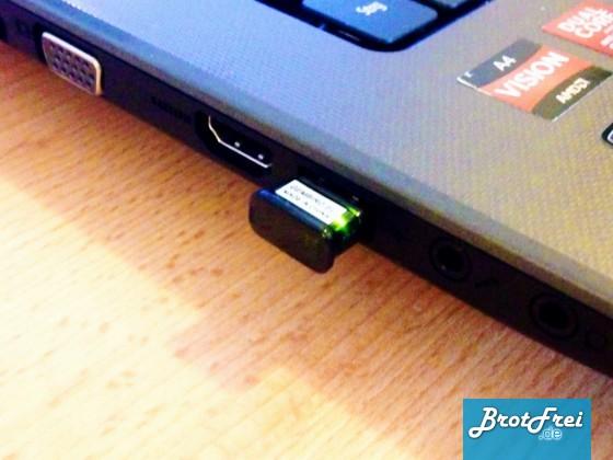 Bluetooth USB Dongle angeschlossen
