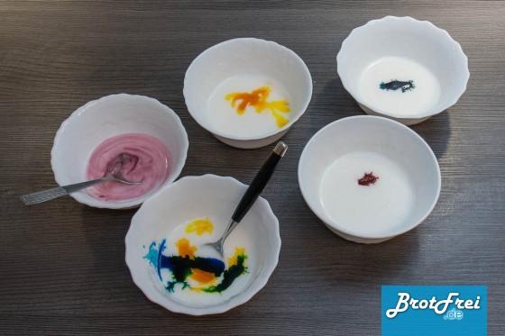 Zuckerguss mit Lebensmittelfarben