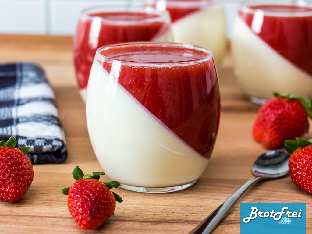 Rezept Für Ein Erdbeere Pannacotta Zum Selber Machen Brotfrei