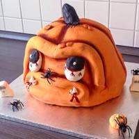 Hallowenn Kürbis Torte