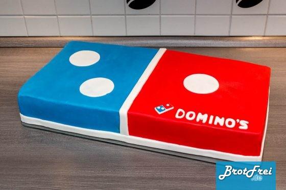 Meine fertige Domino's Torte
